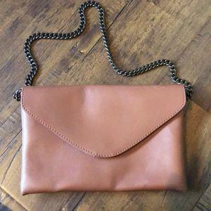 J Crew leather shoulder bag
